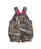 Infant Toddler Girls' Washed Camo Shortall