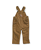 Infant/Toddler Girls' Washed Microsanded Canvas Bib Overall