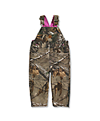 Infant/Toddler Girls' Washed Camo Canvas Bib Overall