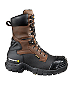 Men's 10-Inch Insulated Brown Pac Boot/Non-Safety Toe