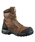Men's 8-Inch Brown Ruggled™ Waterproof Insulated Boot
