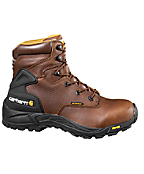 Men's 6-Inch Blucher Waterproof Brown Work Boot/Safety-Toe
