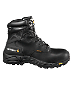 Men's 6-Inch Blucher Waterproof Work Boot (Black)/Safety Toe