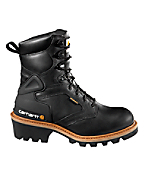 Men's 8-Inch Waterproof Logger Boot (Black)/Non-Safety