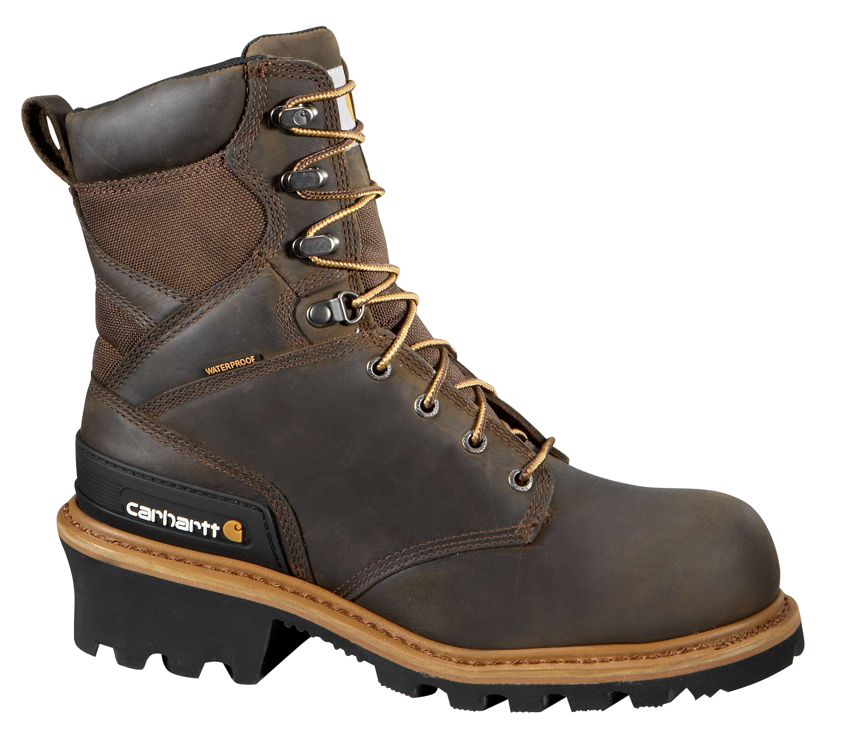 Carhartt 8-inch Vintage Saddle Non Safety Toe Logger Boot