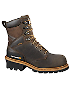 Men's 8-inch Waterproof Non-Safety Toe Logger Boot