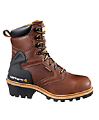 Men's 8-Inch Logger Boot(Brown)/Safety Toe