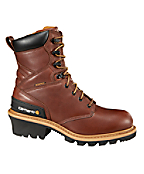 Men's 8-Inch Redwood Waterproof Logger Boot/Safety Toe