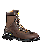 Men's 8-Inch Low-Heel Waterproof Logger Boot/Safety Toe