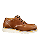 Men's Moc Toe Tan Wedge Oxfords/Safety Toe