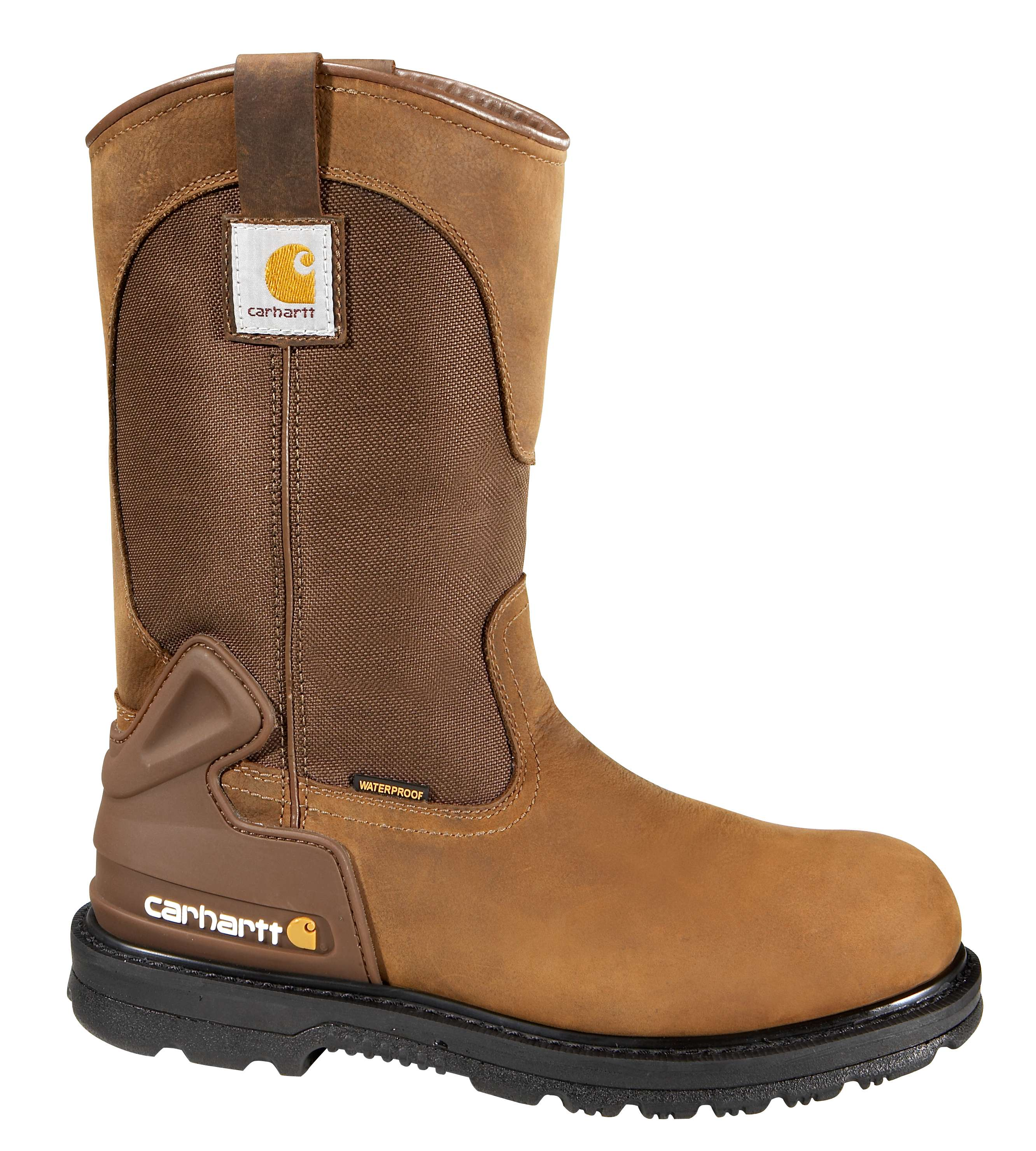 Carhartt 11 inch Bison Brown Safety Toe Wellington