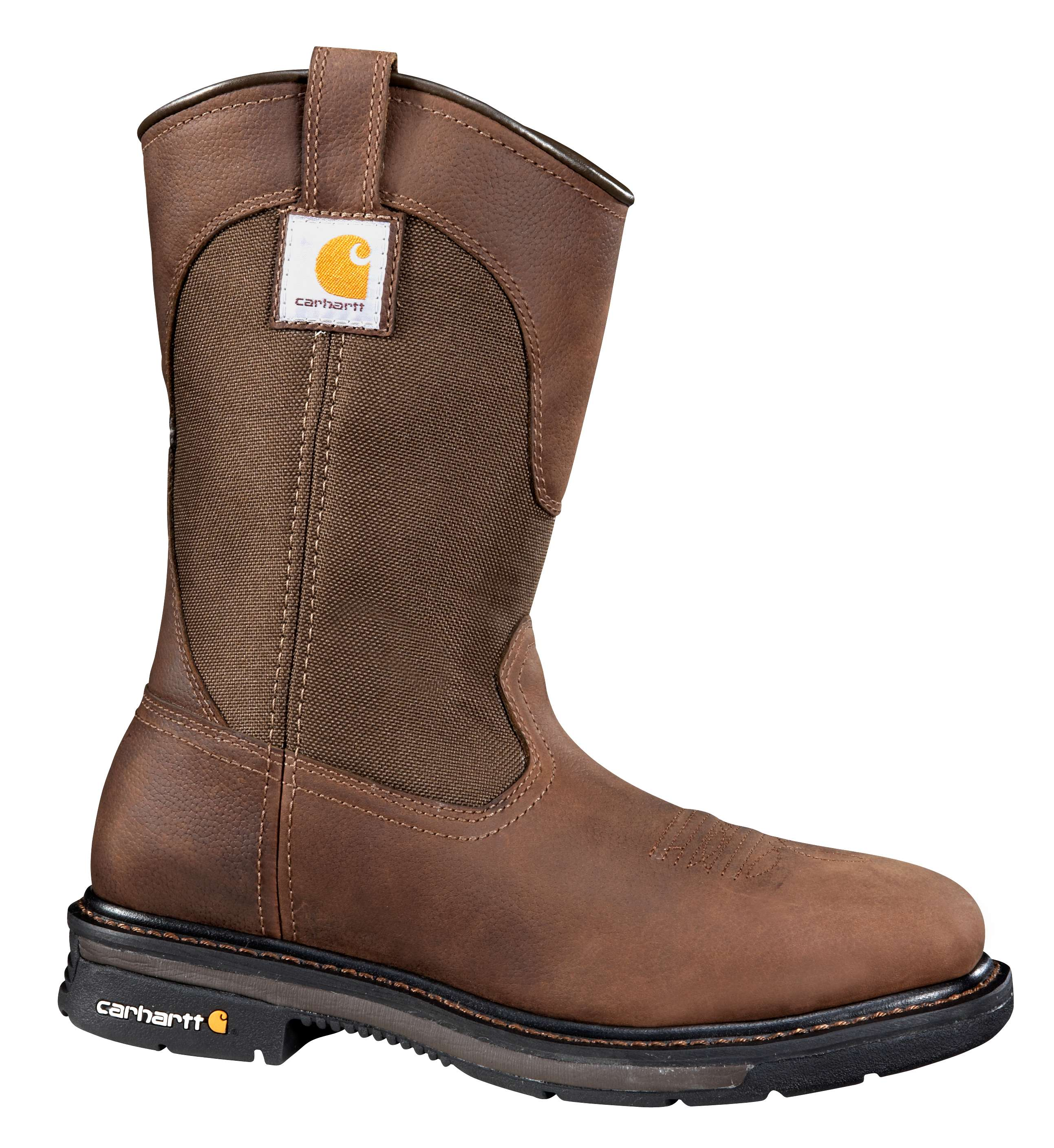 11-Inch Square Steel Toe Wellington Boot