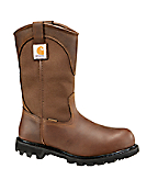 Men's 11-Inch Brown Waterproof Wellington/Safety Toe