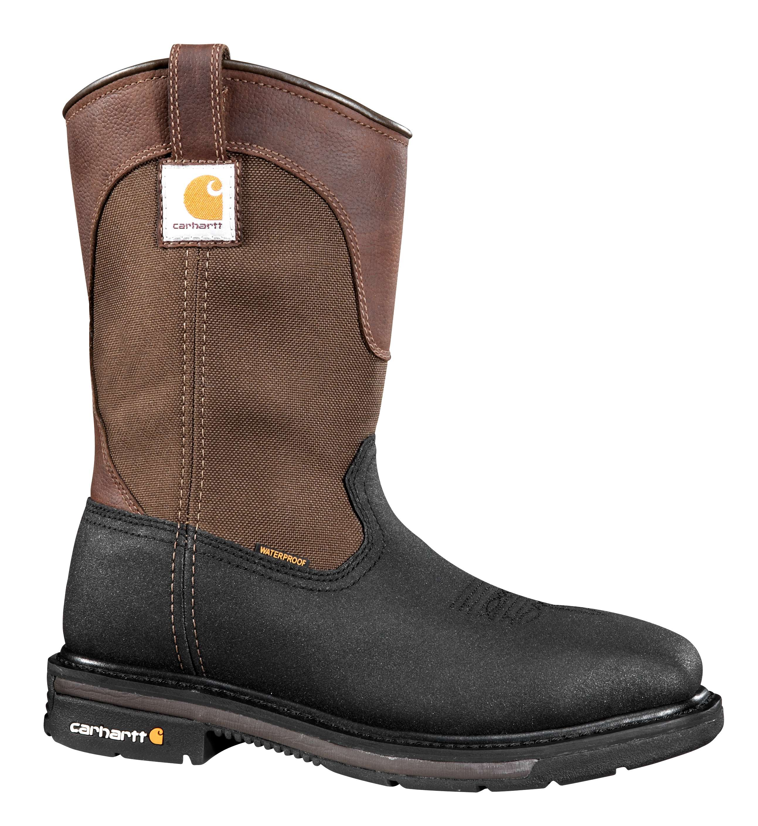 Carhartt 11 Inch Brownblack Safety Toe Square Toe Wellington