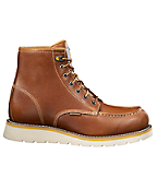Men's 6-inch Tan Wedge Unlined Boot/Non-Safety Toe
