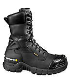 Men's 10-Inch Insulated Black Mine Boot/Safety Toe