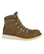 Men's Plain Toe Dark Khaki Suede 6-Inch Waterproof Wedge Boot-Non-Safety Toe