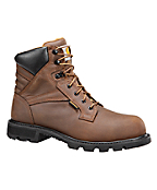 Men's 6-Inch Brown Waterproof Work Boot-Safety Toe