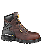 Men's 6-Inch Insulated Pebbled-Brown Work Boot/Safety Toe
