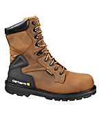 Men's 8-Inch Bison Waterproof Work Boot/Safety Toe