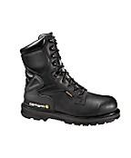 Men's 8-Inch Black Leather Waterproof Work Boot/Safety-Toe