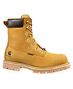 Men's 8-Inch Wheat Nubuck Leather Waterproof Work Boot/Safety Toe