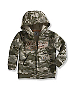 Infant Boy's Camo Logo Fleece Zip-Front Sweatshirt