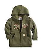 Infant/Toddler Boy�s Logo Fleece Zip-Front Sweatshirt