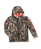 Boys' Packable Work Camo Hooded Rain Jacket