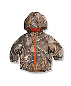 Infant Toddler Boys' Packable Work Camo Hooded Rain Jacket