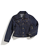 Girl's Washed-Denim Jacket