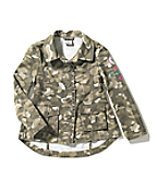 Girl's Washed Printed Ripstop Jacket