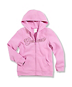 Girls' Brushed Fleece Zip-Front Sweatshirt