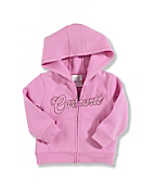 Infant Toddler Girl's Brushed Fleece Zip-Front Sweatshirt