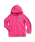 Girls' Brushed Fleece Zip Front Jacket