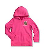 Girls' Brushed Fleece Zip Front Jacket