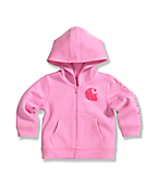 Infant Toddler Girls Brushed Fleece Zip Front Jacket