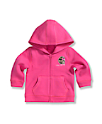 Infant Toddler Girls' Brushed Fleece Zip Front Jacket