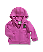 Infant/Toddler Girls' Logo Brushed Fleece Zip Front Sweatshirt