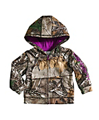 Infant/Toddler Girls' Camo fleece Zip front Sweatshirt