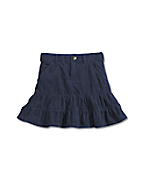 Girls Washed Denim Skirt
