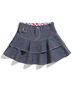 Girls Washed Chambray Skirt