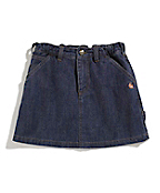 Girl's Washed Denim Skirt