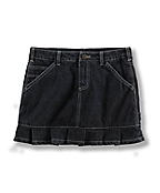 Girls Washed Dungaree Skort