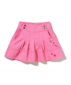 Girls Washed Bedford Cord Skort