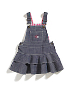 Girls Infant/Toddler Washed Chambray Jumper