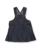 Infant Toddler Girls' Washed Denim Jumper