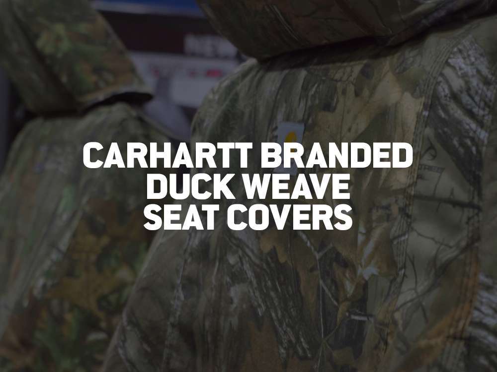 carhartt branded duck weave seat covers