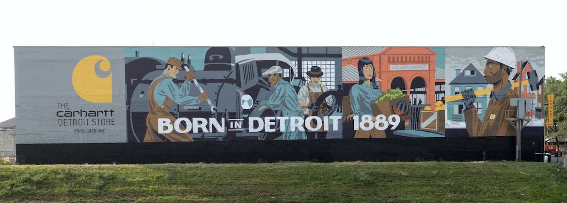 Detroit clothing and company store carhartt for Detroit mural factory