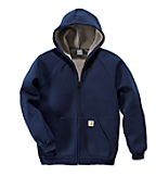 100465: CAR-LUX  ZIP-FRONT HOODED SWEATSHIRT